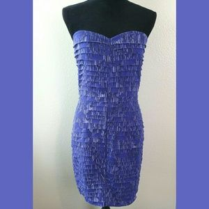 Silence & Noise NWT Strapless Layered Mini Dress